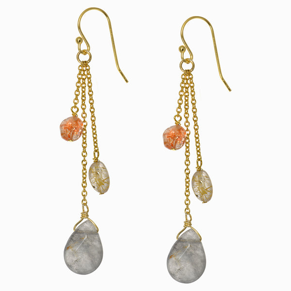 Erudite Rutilated Quartz Drop Earrings