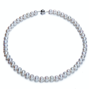 AAA Se-round With S925 Silver Freshwater Pearl Necklace