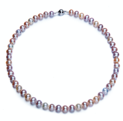AA Se-round With S925 Silver Freshwater Pearl Necklace