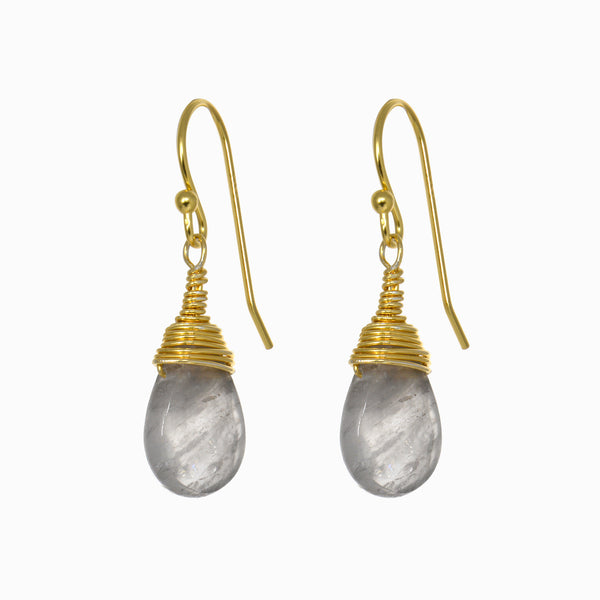 Smoky Quartz Drop Earrings