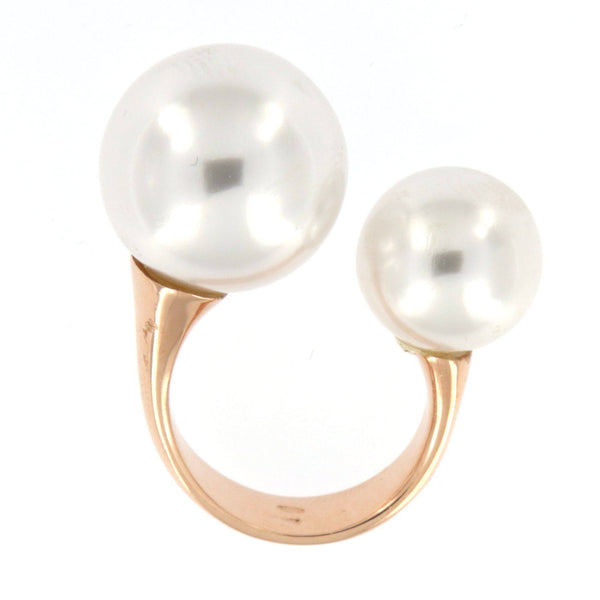 Asymmetrical Pearly Ring - Shop Ludovica