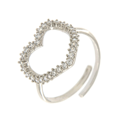 Heart Pave Ring - Shop Ludovica
