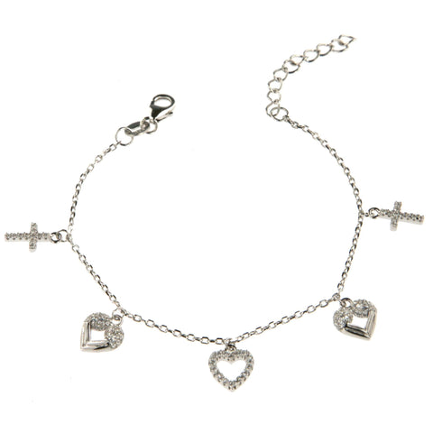 Cross 5 Charms Bracelet - Shop Ludovica