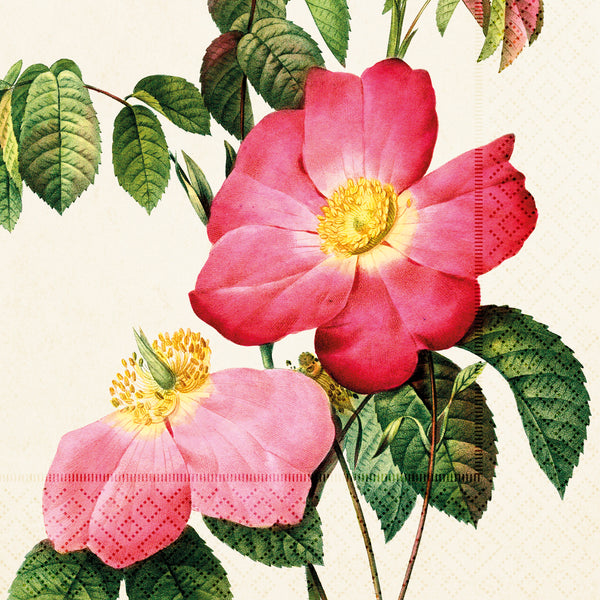 Napkins - Vintage  Rose  Design