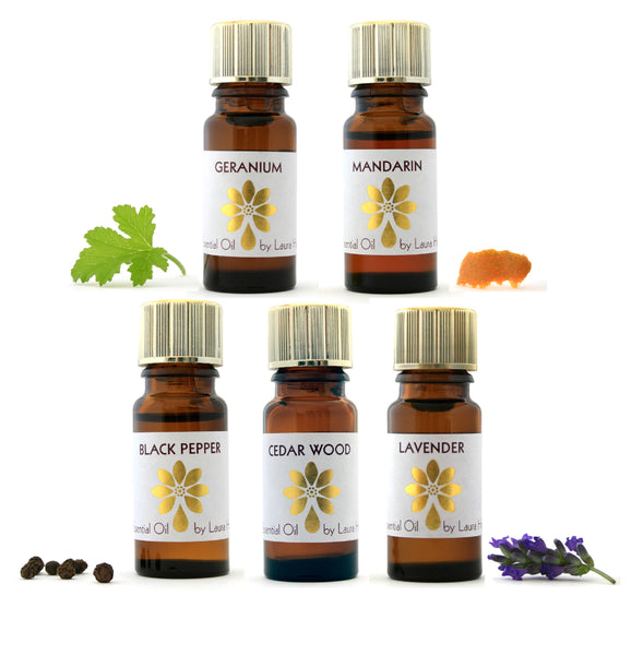 Aromatherapy Starter Kit 1, with 5 Essential Oils