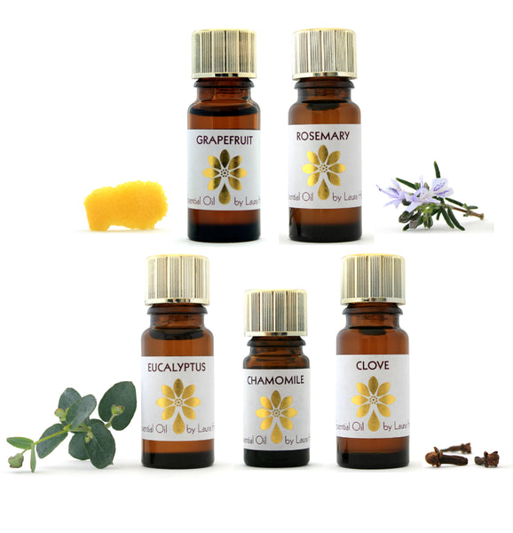 Aromatherapy Starter Kit 2, with 5 Essential Oils