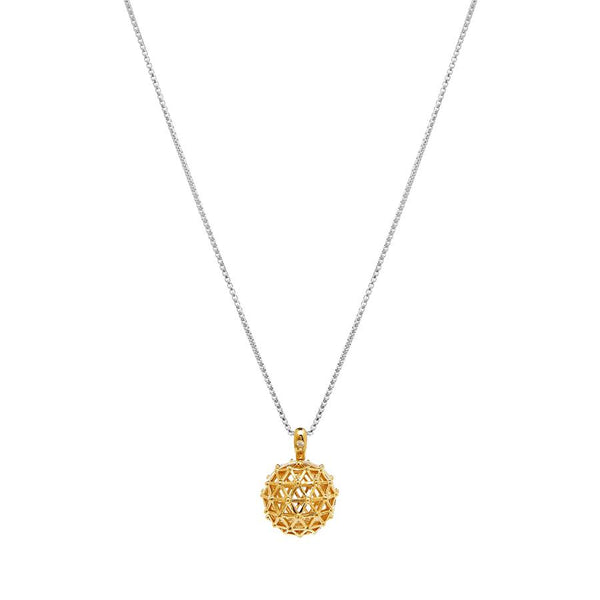 OYL'E LUXE Aromatherapy Essential Oil Gold 18k Diffuser Necklace Two Tone