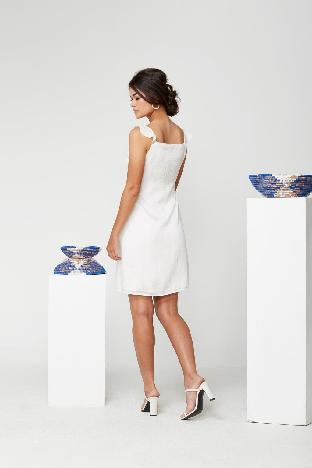 Frill Strap Wrap Dress