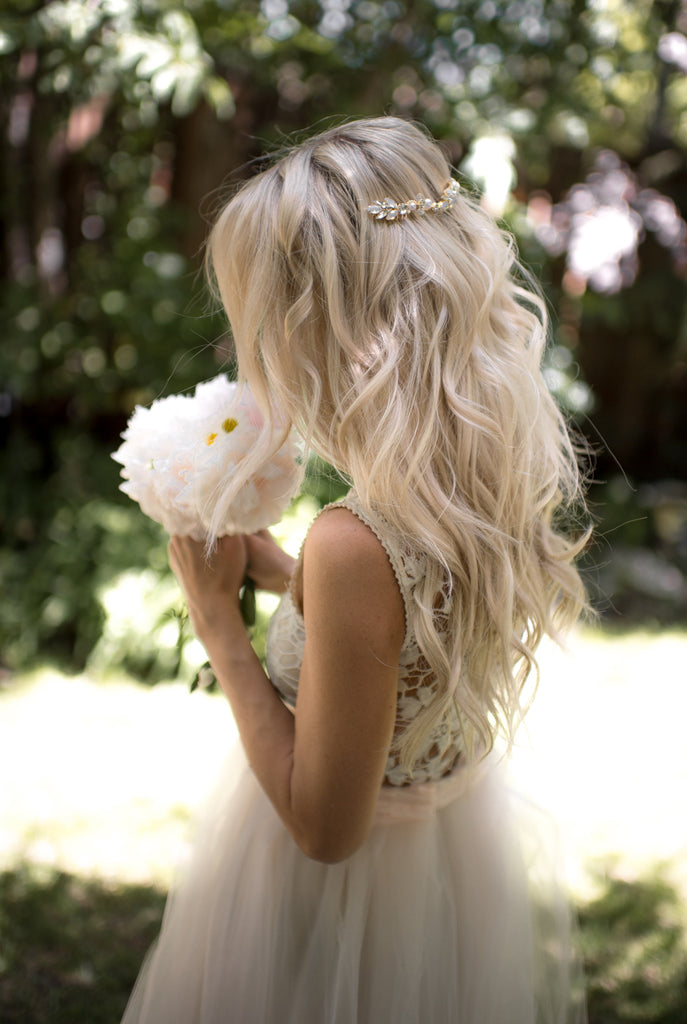 wedding hair wavy boho wedding hair bridal hair down Lottie da designs