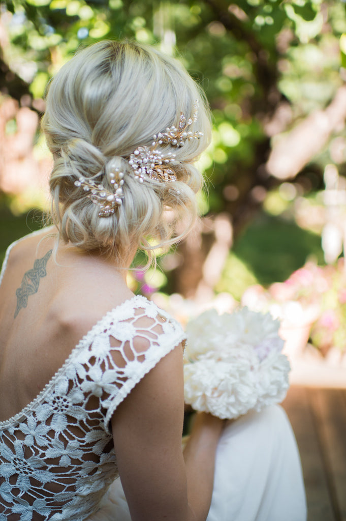 messy chignon bun wedding hair wedding undo wedding hair accessories