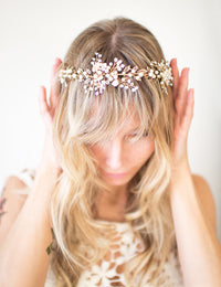 ZINNIA Leaf & Flower Headpiece