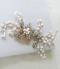 """EMMALINE"" Bridal Headpiece Hair Comb"
