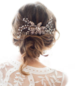 antique gold hair accessory