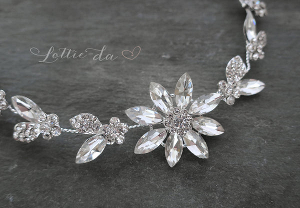 'AZALEA' Crystal Hair Vine Bridal Headpiece
