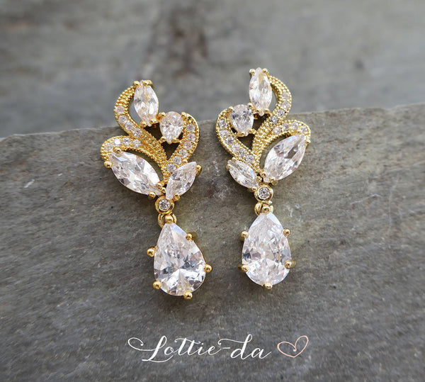 'ALLURA' Vintage Deco Style Earrings