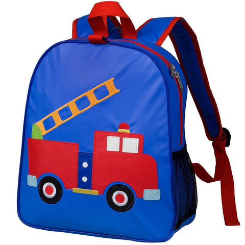 Wildkin Olive Kids Fire Truck Embroidered Backpack School Bag - Petit Fab Singapore