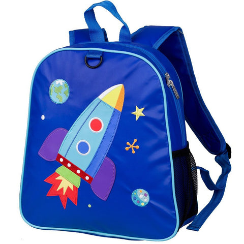 Wildkin Olive Kids Rocket Embroidered Backpack School Bag - Petit Fab Singapore