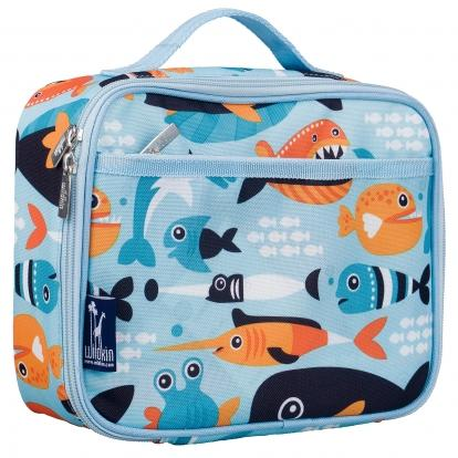 Wildkin Olive Kids Big Fish Lunch Box Bag [BPA-Free]