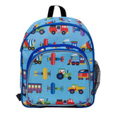 Wildkin Olive Kids Trains, Planes & Trucks Pack 'n Snack Backpack - Petit Fab Singapore