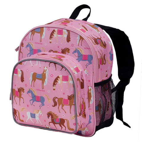 Wildkin Olive Kids Horses Pack 'n Snack Backpack - Petit Fab Singapore