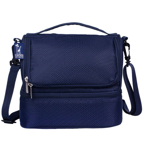 Wildkin Rip-Stop Blue Double Decker Lunch Bag [BPA-Free] - Petit Fab Singapore