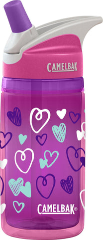 Camelbak Eddy Kids Insulated Water Bottles 0.4L Pink Hearts - Petit Fab Singapore