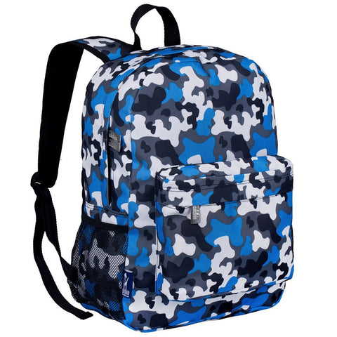 Wildkin Blue Camo Crackerjack Backpack - Petit Fab Singapore