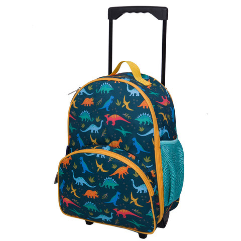 Wildkin Jurassic Giants Rolling Luggage Trolley Bag - Petit Fab