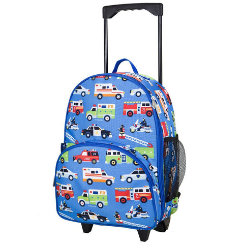 Wildkin Olive Kids Heroes Rolling Luggage Trolley School Bag - Petit Fab Singapore