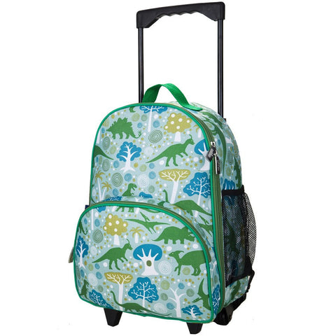 Wildkin Olive Kids Dinomite Dinosaurs Rolling Luggage Trolley Bag - Petit Fab Singapore