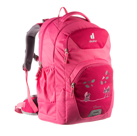 Deuter Genius Ergonomic Kids School Bag Backpacks - Magenta Hotpink Forest Friends