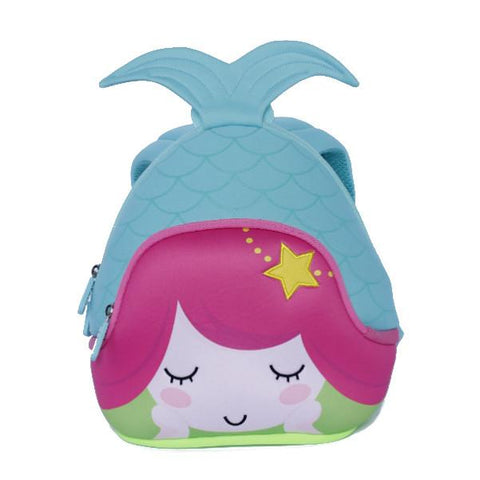 KinderBrands Nohoo 3D Mermaid Kids' Neoprene Backpack (2 Colours) - Petit Fab Singapore