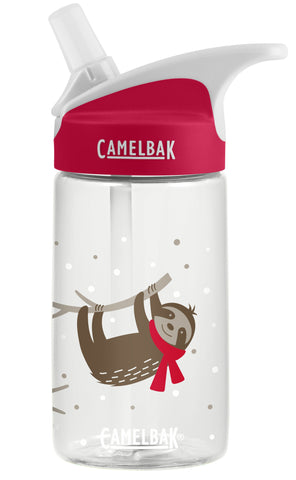 Camelbak Eddy Kids Spill-Proof Water Bottle 0.4L - Cozy Sloths [BPA-Free]