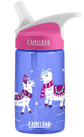 Camelbak Eddy Kids Spill-Proof Water Bottle 0.4L - Happy Llama Days [BPA-Free]