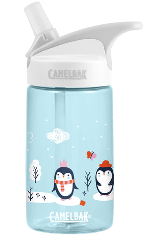 Camelbak Eddy Kids Spill-Proof Water Bottle 0.4L - Sweet Penguins [BPA-Free]