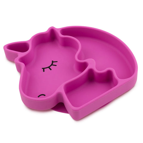 Bumkins Silicone Grip Dish Special Edition: Unicorn - Petit Fab