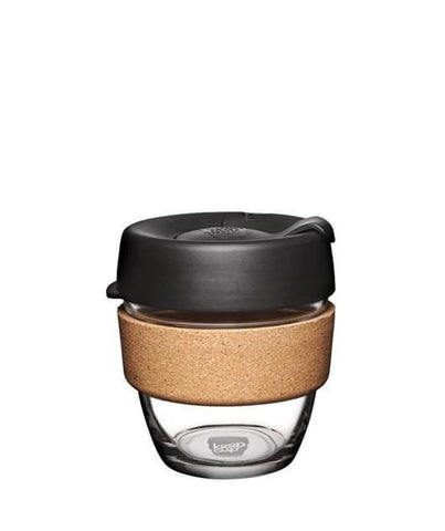 KeepCup Brew Cork Glass Reusable Coffee Cups (Small) [Made in Australia]