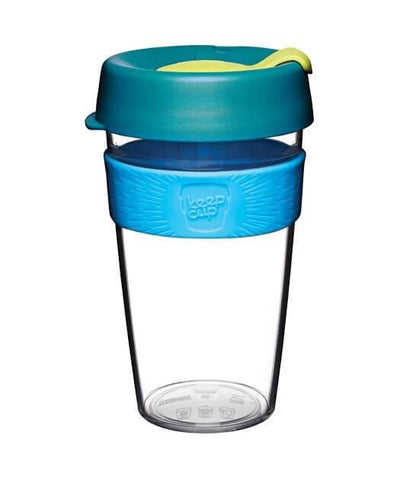 KeepCup Clear Plastic Reusable Coffee Cups (Large) [Made in Australia]