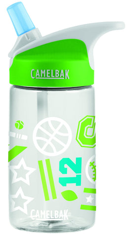 Camelbak Eddy Kids Spill-Proof Water Bottle 0.4L - Sports Jam [BPA-Free]