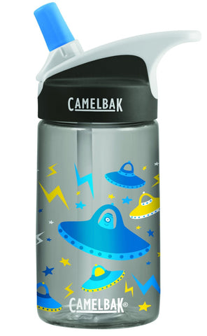 Camelbak Eddy Kids Spill-Proof Water Bottle 0.4L - UFOs [BPA-Free] - Petit Fab Singapore