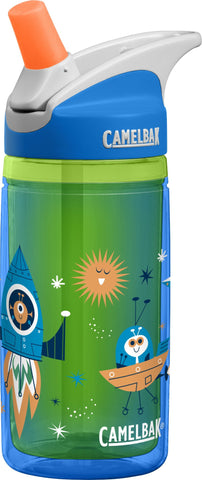 Camelbak Eddy Kids Insulated Spill-Proof Water Bottles 0.4L Blue Rockets - Petit Fab Singapore