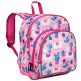 Wildkin Pink Llamas and Cactus Pack 'n Snack Backpack - Petit Fab
