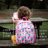 Wildkin Pink Llamas and Cactus Pack 'n Snack Backpack