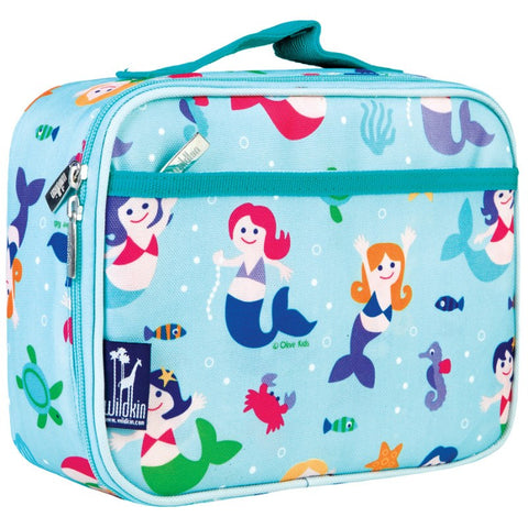 Wildkin Olive Kids Mermaids Lunch Box Bag [BPA-Free] - Petit Fab Singapore