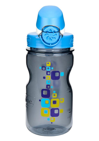 Nalgene 12oz OTF Kids BPA-Free Water Bottle - Gray Square - Petit Fab Singapore