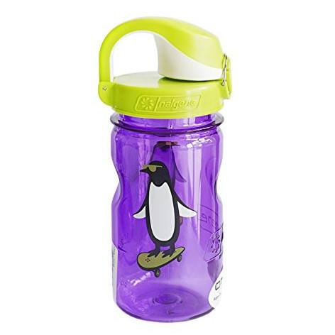 Nalgene 12oz OTF Kids BPA-Free Water Bottle - Purple Penguin - Petit Fab Singapore