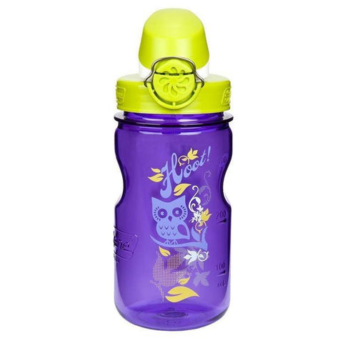 Nalgene 12oz OTF Kids BPA-Free Water Bottle - Purple Hoot - Petit Fab Singapore