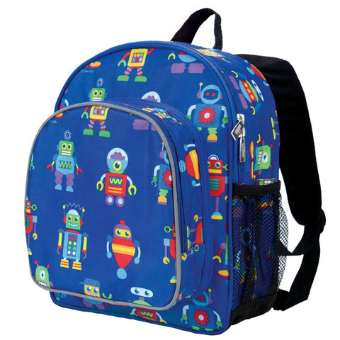 Wildkin Olive Kids Robots Pack 'n Snack Backpack Backpack - Petit Fab Singapore