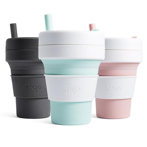 Stojo Biggie Collapsible Reusable Coffee Cup 16oz (6 Colors)