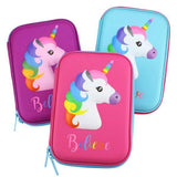 KinderBrands Unicorn 3D EVA Hard Pencil Case - Petit Fab Singapore